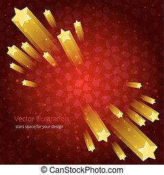 abstraktion, design, din, stjärnor, utrymme