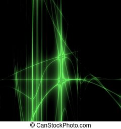 abstraktion, grün