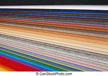 abstraktion, von, der, farbiges papier