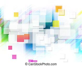 abstraktní, čtverhran formovat, grafické pozadí