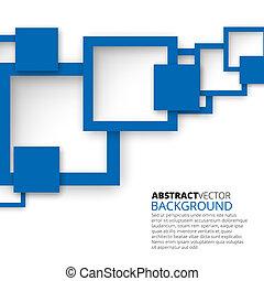 abstraktní, čtverhran, grafické pozadí