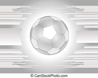 abstraktní, šedivý, fotbal koule, backgroun