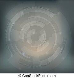 abstraktní, šedivý, oko, technika, grafické pozadí, design