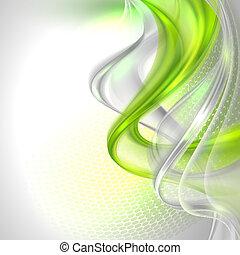 abstraktní, šedivý, vlnitost, grafické pozadí