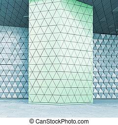 abstraktní, 3, ilustrace, stavitelský, model