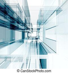 abstraktní, architektura, grafické pozadí