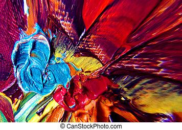 abstraktní, barva
