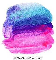 abstraktní, barva vodová, namalovaný, grafické pozadí., noviny, texture.