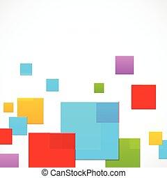 abstraktní, barvitý, čtverhran