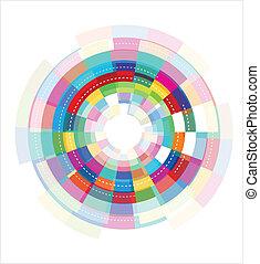 abstraktní, barvitý, šablona