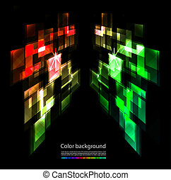 abstraktní, barvitý, grafické pozadí