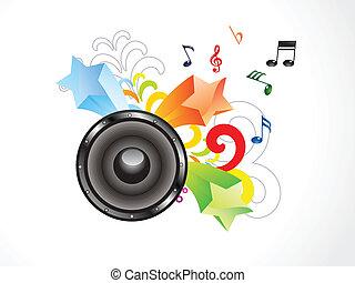 abstraktní, barvitý, hudba, tapeta