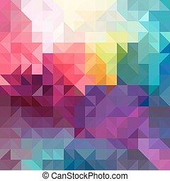 abstraktní, barvitý, vektor, grafické pozadí