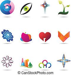 abstraktní, dát, ikona