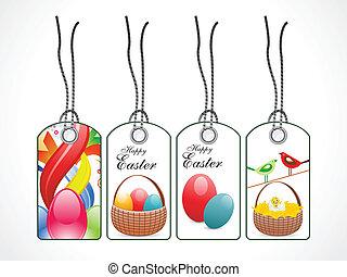 abstraktní, dát, velikonoční, barvitý, opatřit poutkem