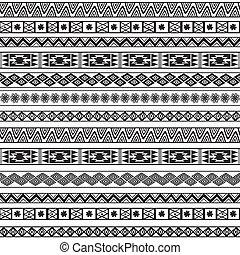 abstraktní, etnický, pattern., geometrický, seamless