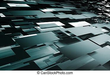 abstraktní, futuristický, grafické pozadí