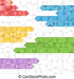 abstraktní, geometrický, grafické pozadí, o, barva, blokáda
