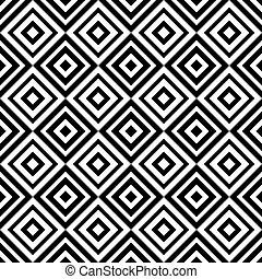 abstraktní, geometrický, seamless, model, kosočtverec