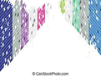 abstraktní, grafické pozadí, čtverec