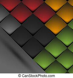 abstraktní, grafické pozadí, čtverhran