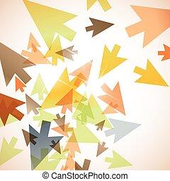abstraktní, grafické pozadí, šipka