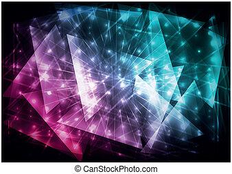 abstraktní, grafické pozadí, digitální