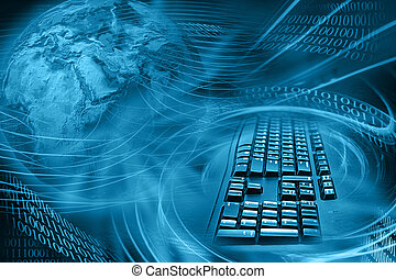 abstraktní, grafické pozadí, internet