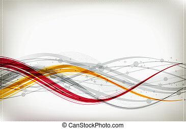 abstraktní, grafické pozadí, jako, tvůj, design