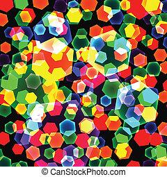abstraktní, grafické pozadí, o, barva, geometrický, znak