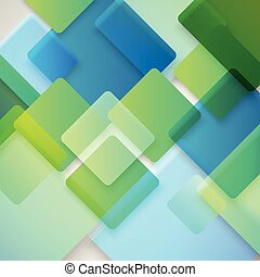 abstraktní, grafické pozadí, o, neobvyklý, barva, squares., design, pojem