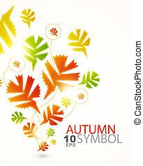 abstraktní, grafické pozadí, podzim