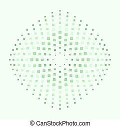abstraktní, grafické pozadí, s, čtverec, shapes., čtverec, ozdoby, do, neobvyklý, colors.