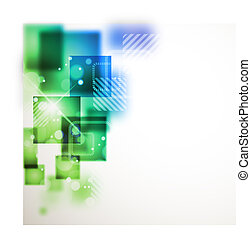 abstraktní, grafické pozadí, s, čtverec, tvořit