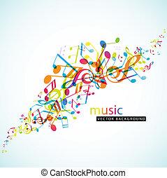 abstraktní, grafické pozadí, s, barvitý, tunes.