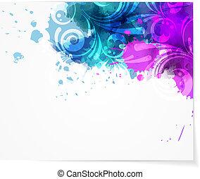 abstraktní, grafické pozadí, s, moderní, swirly, design