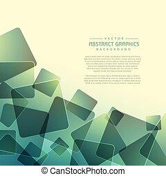 abstraktní, grafické pozadí, s, náhoda, čtverec, tvořit