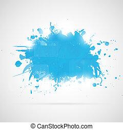 abstraktní, grafické pozadí, s, oplzlý líčit, splashes.