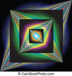 abstraktní, grafické pozadí, umění, optický