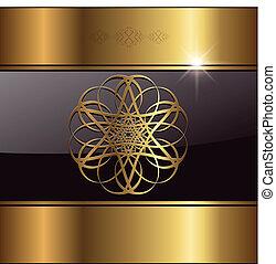 abstraktní, grafické pozadí, zlatý