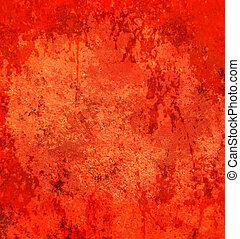 abstraktní, grunge, červené šaty grafické pozadí