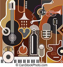 abstraktní, hudba, grafické pozadí