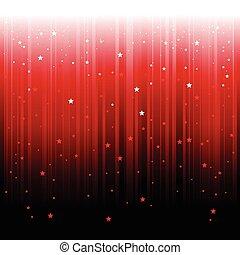abstraktní, hvězda, padající, grafické pozadí