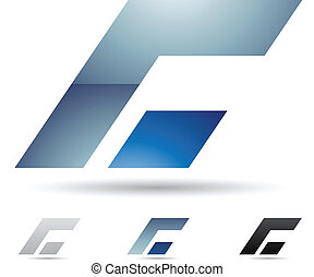 abstraktní, ikona, jako, dopisy c