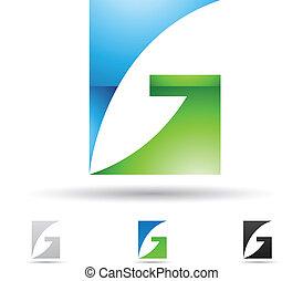 abstraktní, ikona, jako, dopisy g