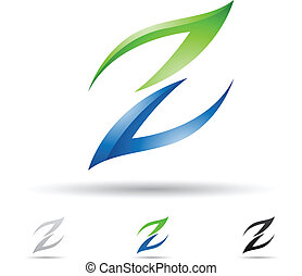 abstraktní, ikona, jako, litera, z