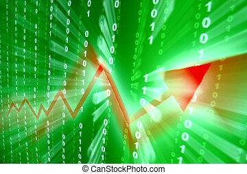 abstraktní, investice, nárůst