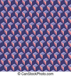 abstraktní, isometric, forma, model, grafické pozadí