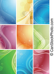 abstraktní, křivka, grafické pozadí
