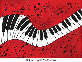 abstraktní, klavír
